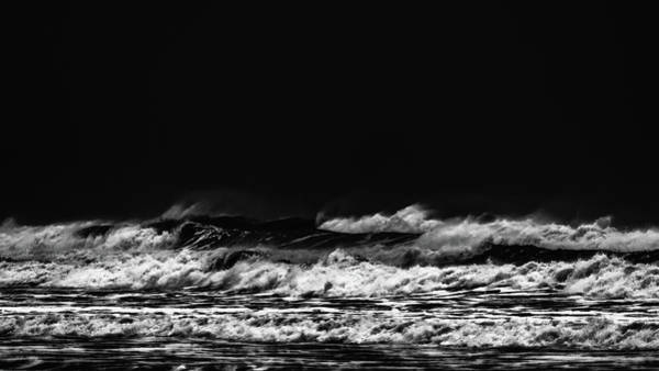 Photograph - Waves In Black And White 22 by Jorg Becker
