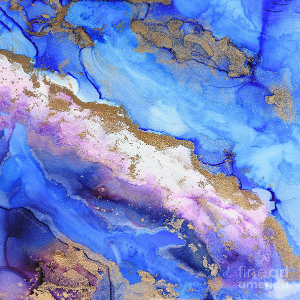 Painting - Waves Of Abstract Gold by Alissa Beth Photography