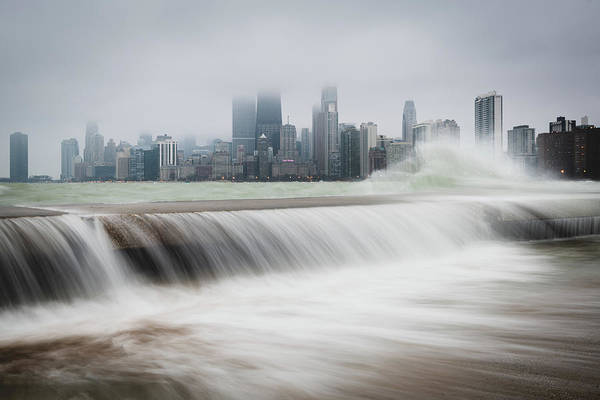 Photograph - Waves Of The Windy City by Josh Eral