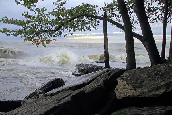 Photograph - Waves On The Lake by Angela Murdock