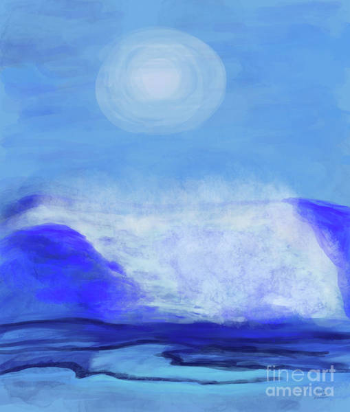 Digital Art - Waves On The Way by Annette M Stevenson