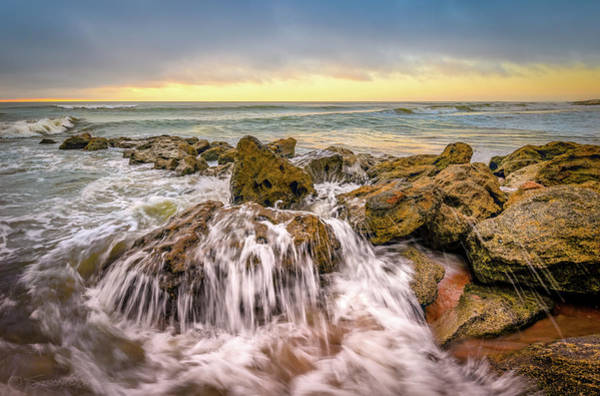 Photograph - Waves Over Coquina by Stacey Sather