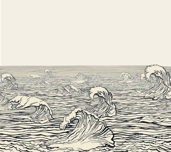 Wall Art - Digital Art - Waves by Ryger