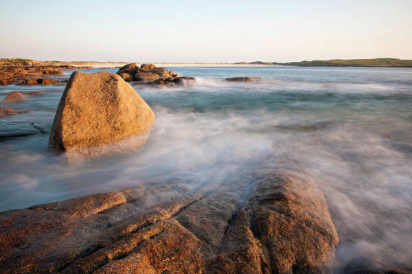 Connemara Photograph - Waves Washing Up On Rocky Beach by Cultura Rf/ben Pipe Photography