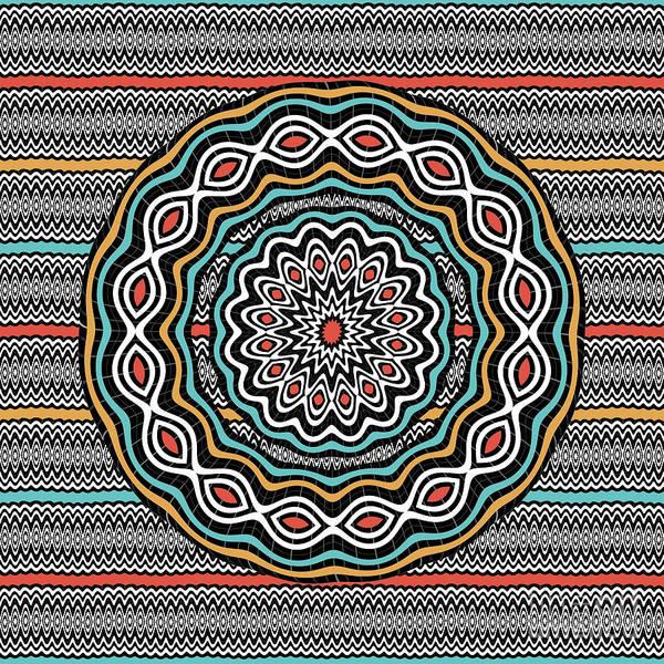 Wall Art - Digital Art - Wavy Patterns Mandala by Gaspar Avila