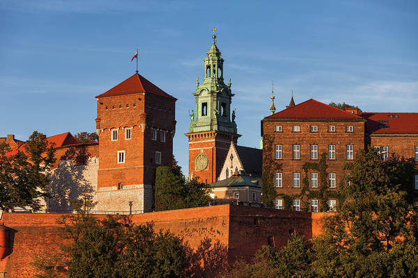 Wall Art - Photograph - Wawel Castle And Cathedral Tower In Krakow by Artur Bogacki