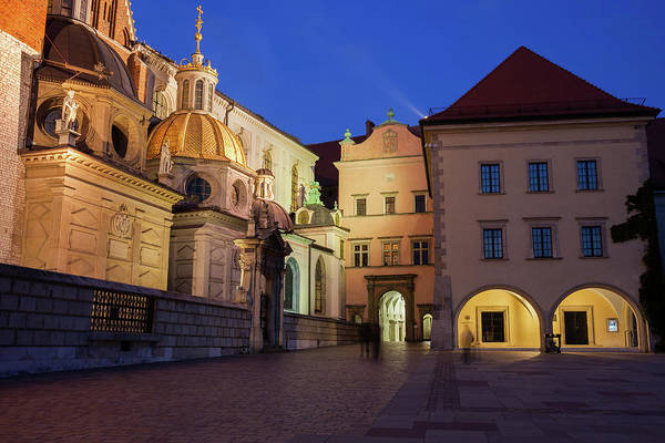 Wall Art - Photograph - Wawel Cathedral And Castle At Night In Krakow by Artur Bogacki