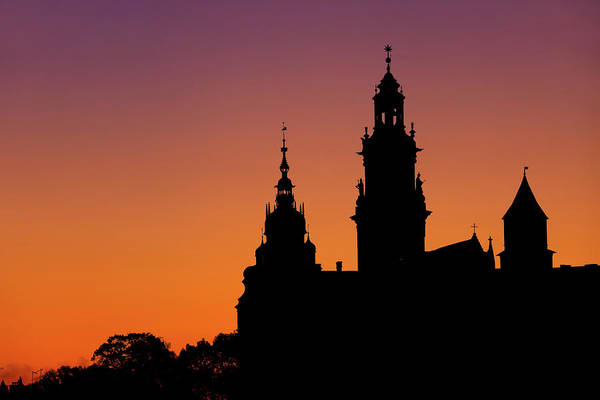 Wall Art - Photograph - Wawel Cathedral And Castle Silhouette In Krakow by Artur Bogacki