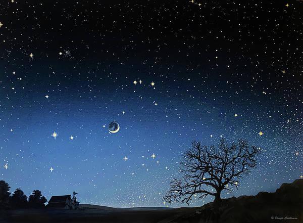 Painting - Waxing Cresent Moon In Gemini by Douglas Castleman
