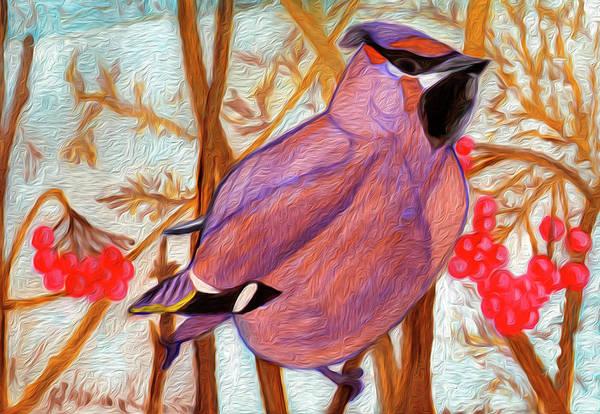 Painting - Waxwing by Irina Dobrotsvet