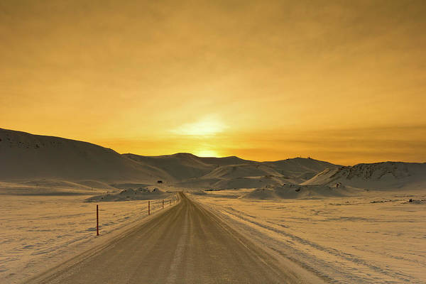 Reykjavik Photograph - Way To Snowy Mountains by Gulli Vals
