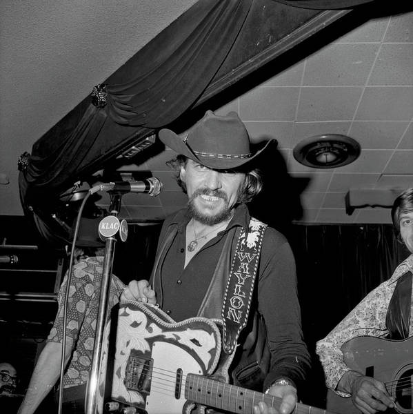 Performance Photograph - Waylon Jennings At The Palomino by Michael Ochs Archives