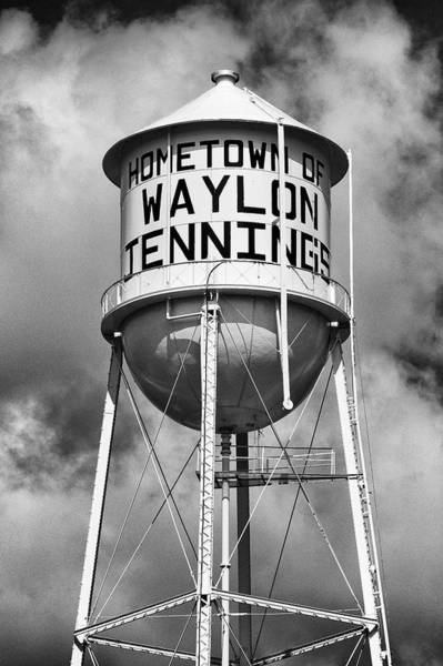 Wall Art - Photograph - Waylon Jennings Water Tower - #2 by Stephen Stookey