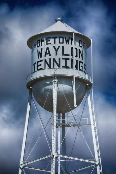 Wall Art - Photograph - Waylon Jennings Water Tower by Stephen Stookey