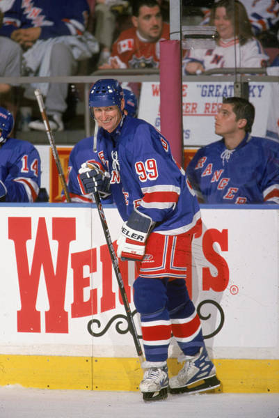 Photograph - Wayne Gretzky On The Ice For The Last by J Mcisaac
