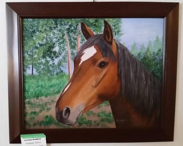 Painting - Wayne's Horse by Lorraine Bradford
