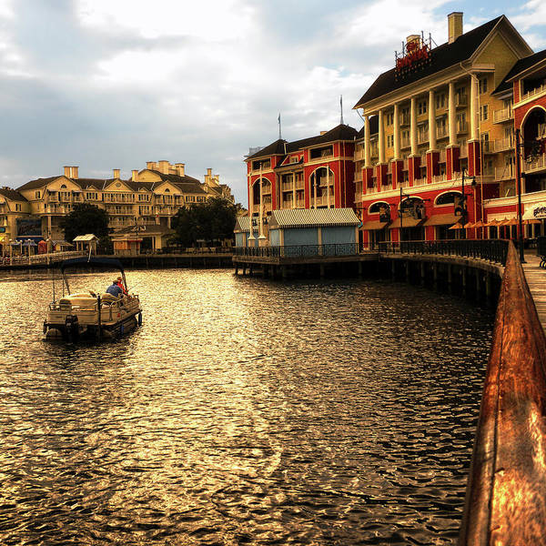 Wall Art - Photograph - Wdw Early Morning Fishing On Crescent Lake By The Boardwalk Sq Format by Thomas Woolworth