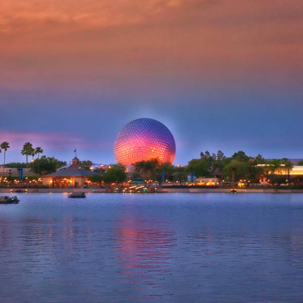 Wall Art - Photograph - Wdw Epcot World Showcase Lagoon Sunset Sq Format by Thomas Woolworth