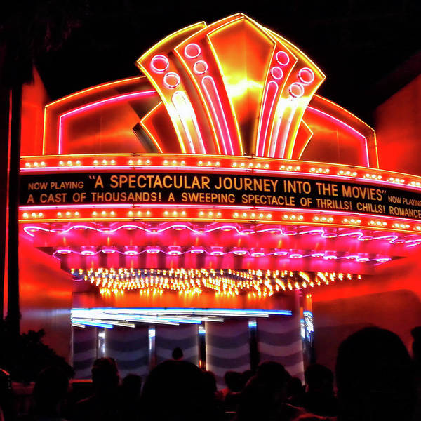 Wall Art - Photograph - Wdw Journey Into The Movies Signage Sq Format by Thomas Woolworth