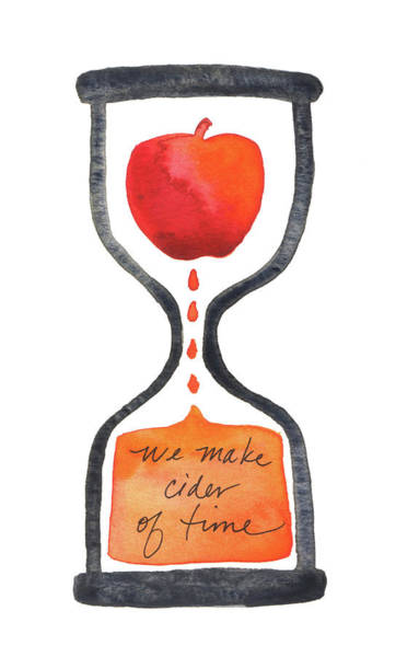 Painting - We Make Cider Of Time by Anna Elkins
