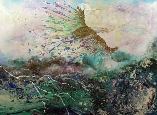 Painting - We Rise Above Our Storms by Pam Halliburton