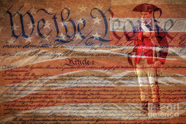 Wall Art - Digital Art - We The People Continental Soldier  by Randy Steele