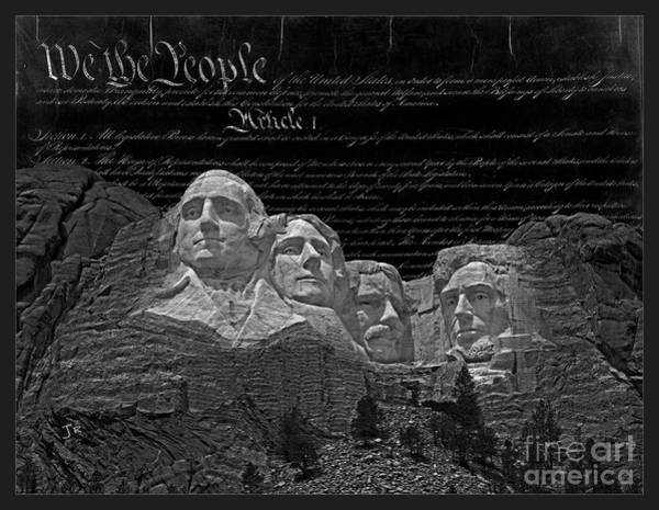 Wall Art - Photograph - We The People Mount Rushmore by John Stephens