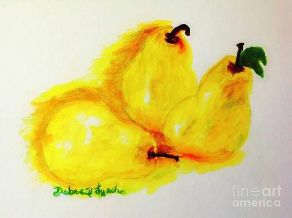 Painting - We Three Pears by Debra Lynch