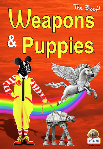 Painting - Weapons And Puppies Supersonic by Yom Tov Blumenthal