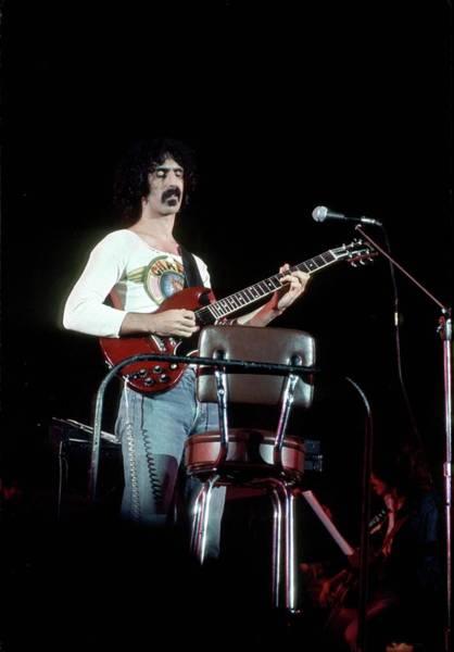 Frank Zappa Wall Art - Photograph - Wearing Charp Hot Rats T-shirt by Michael Ochs Archives