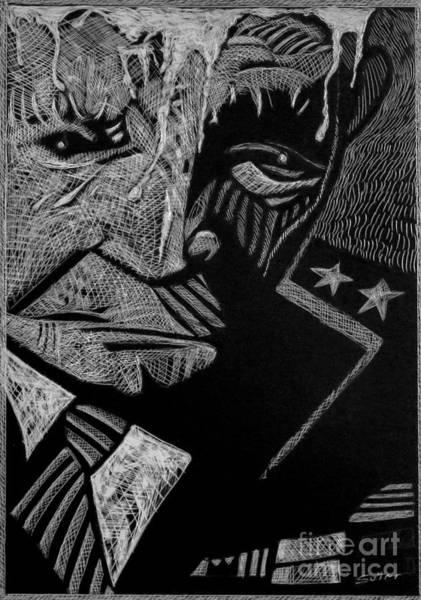 Weary Warrior. Art Print