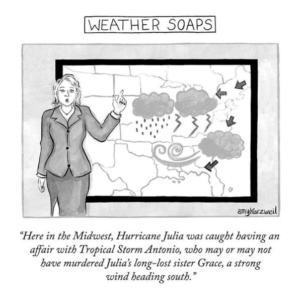Drawing - Weather Soaps by Amy Kurzweil