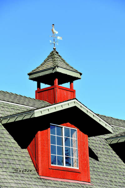 Photograph - Weather Vane Red Window Gable by Floyd Snyder