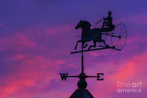 Wind Vane Digital Art - Weather Vane Sunset by Randy Steele