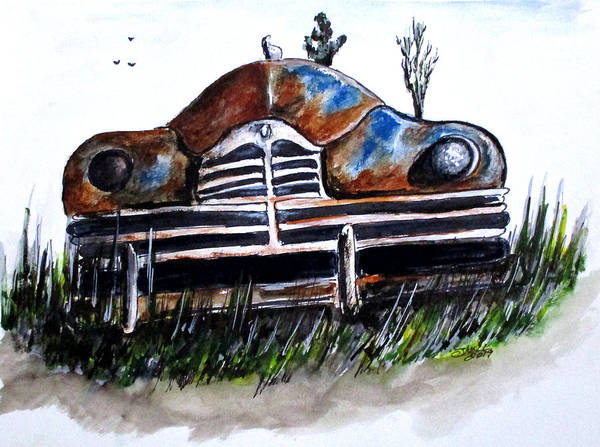 Painting - Weathered And Rusting by Clyde J Kell