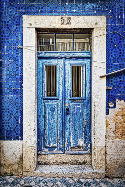 Photograph - Weathered Blue Door - Portugal by Stuart Litoff