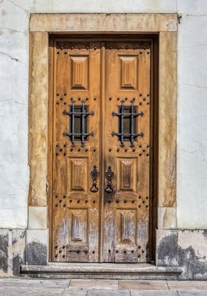 Photograph - Weathered Brown Door Of Portugal by David Letts