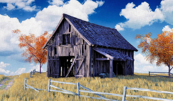 Fall Scenery Mixed Media - Weathered By Time by William Butman