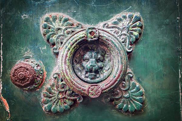 Doorknob Photograph - Weathered Door Knocker Toulouse France  by Carol Japp