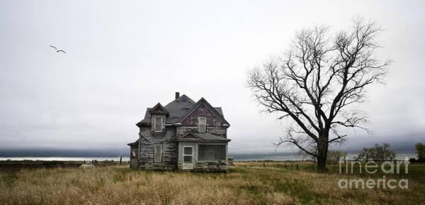 South Dakota Wall Art - Photograph - Weathered Homestead by Patrick Ziegler