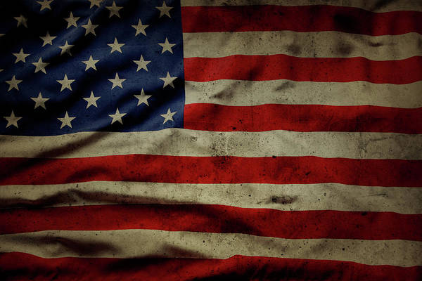 Wall Art - Photograph - Weathered Old Glory Flag Usa by Les Cunliffe