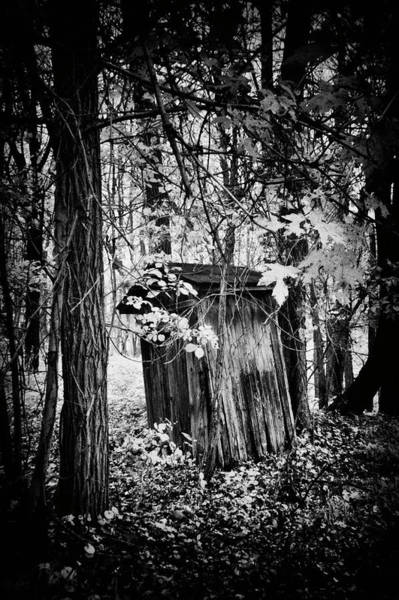Wall Art - Photograph - Weathered Outhouse In Bw by Paul W Faust - Impressions of Light