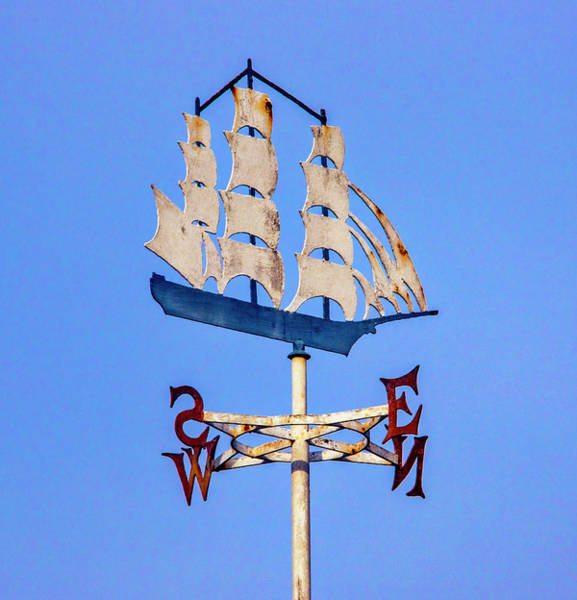 Wall Art - Photograph - Weathervane Ship by Garry Gay
