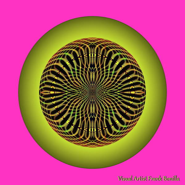 Digital Art - Weave Sun by Visual Artist Frank Bonilla
