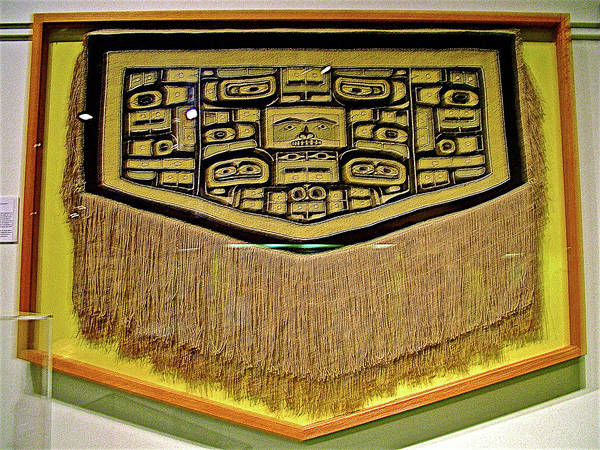 University Of Alaska Photograph - Weaving With Clan Icons In University Of Alaska Museum Of The North In Fairbanks  by Ruth Hager