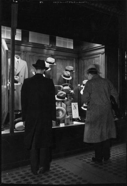 Hats For Sale Photograph - Weber & Heilbroner Hat Shop by The New York Historical Society