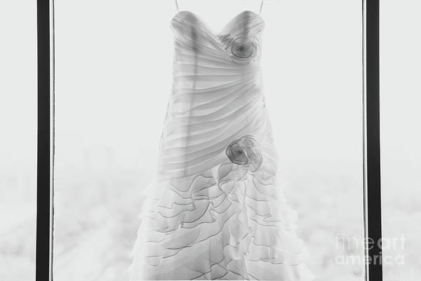 Wall Art - Photograph - Wedding Dress In Black Frame by Matt Corkum