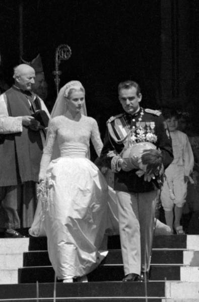 Princess Grace Photograph - Wedding Of Prince Rainier And Grace by Keystone-france