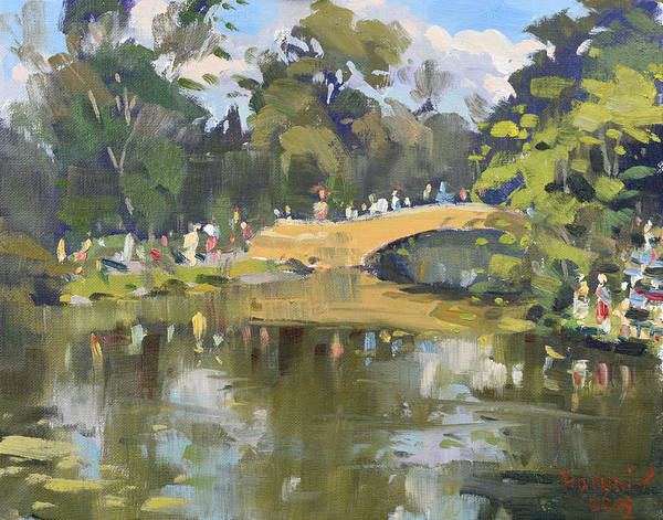 Wall Art - Painting - Wedding Party In Hyde Park by Ylli Haruni