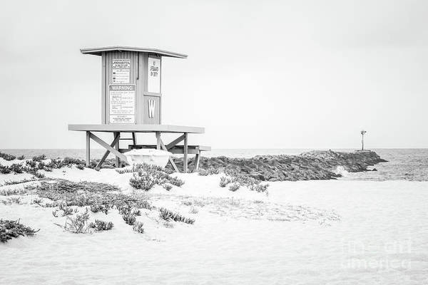 Wall Art - Photograph - Wedge Lifeguard Tower W Newport Beach Black And White Photo by Paul Velgos
